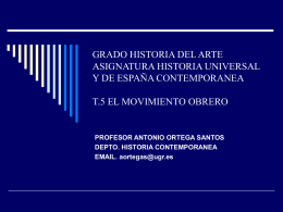 GRADO HISTORIA DEL ARTE ASIGNATURA HISTORIA …