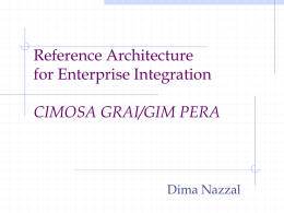 GERAM:General Enterprise Reference Architecture …
