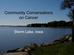 Community Conversations on Cancer: Tai Dam & Latino