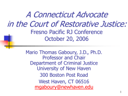 Restorative Justice/Community Justice