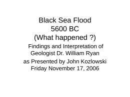 Black Sea Flood - Home Page | McGill University