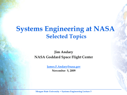 Systems Engineering at NASA