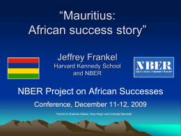 Mauritius: African success story?