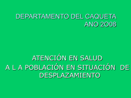 CAQUETA - DISASTER info DESASTRES