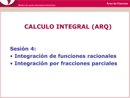CALCULO INTEGRAL (ARQ)
