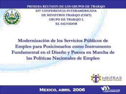 Modernizacion del servicio publico de empleo para