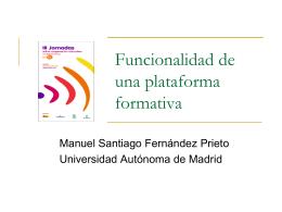 Funcionalidad de una plataforma formativa