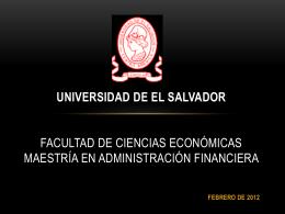 UNIVERSIDAD DE EL SALVADOR FACULTAD DE CIENCIAS …