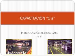 "CAPACITACION ""5 s"""