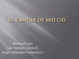 El Cantar de Mio Cid - Ciencias Soci@les | Blog de Dto