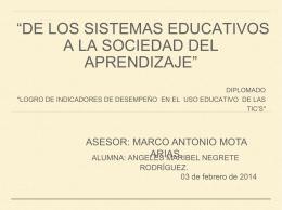 DE LOS SISTEMAS EDUCATIVOS A LA SOCIEDAD DEL …