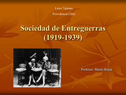 Sociedad de Entreguerras (1919