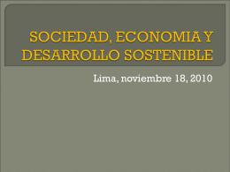 SOCIEDAD, ECONOMIA Y DESARROLLO SOSTENIBLE