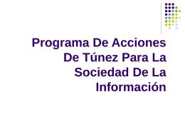 Programa De Acciones De Tunez Para La Sociedad De La