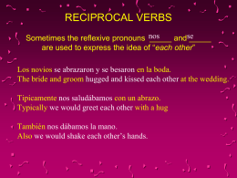 Reciprocal Reflexive Pronouns