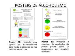 POSTERS DE ALCOHOLISMO