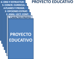 > PROYECTO EDUCATIVO – Planes