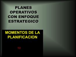 PLANES OPERATIVOS CON ENFOQUE ESTRATEGICO