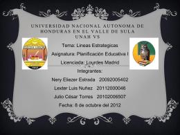 Universidad Nacional Autonoma de Honduras en el Valle …