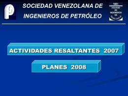 Resultados 2007 y Planes 2008 - Inicio SVIP.ORG