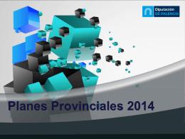 propuesta Planes Provinciales 2012