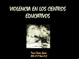 Violencia en los Centros Educativos