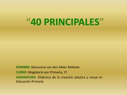 """40 PRINCIPALES"""""""
