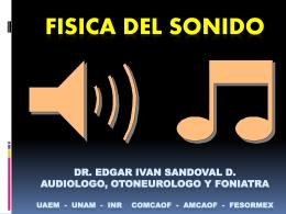 FISICA DEL SONIDO PARTE II COORDINADORA: DRA. …
