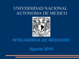 INTELIGENCIA DE NEGOCIOS Agosto 2010