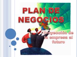 PLAN DE NEGOCIOS - creacionempresarial