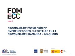 Plan Inicial de Negocios - BIENVENIDOS A FOMECC PERU