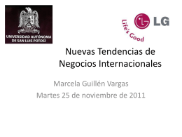 Nuevas Tendencias de Negocios Internacionales