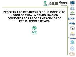 Programa de desarrollo de un modelo de negocios para la