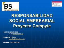 RESPONSABILIDAD SOCIAL CORPORATIVA (Proyecto …
