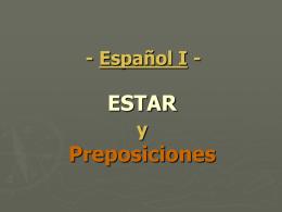 ESTAR y Preposiciones