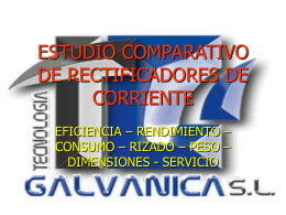 ESTUDIO COMPARATIVO DE RECTIFICADORES DE …