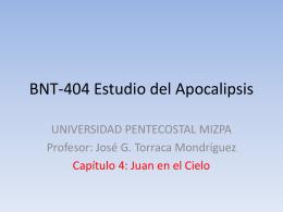 BNT-404 Estudio del Apocalipsis
