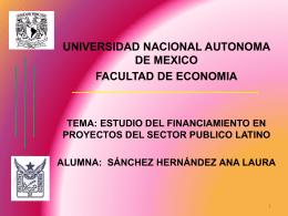 ESTUDIO DEL FINANCIAMIENTO EN PROYECTOS DEL …
