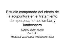 Estudio comparado del efecto de la acupuntura en el