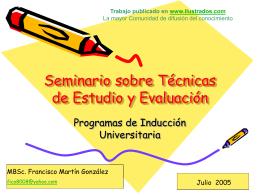 Discusion sobre Tecnicas de Evaluacion y Estudio
