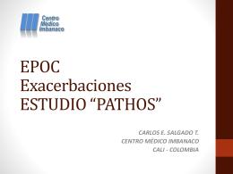 """Exacerbaciones EPOC ESTUDIO """"PATHOS"""""""