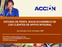 Estudio de pobreza BancoSol