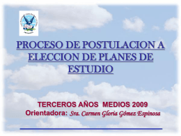 PROCESO DE POSTULACION A ELECCION DE PLANES DE …