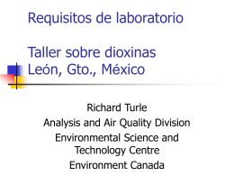 Dioxin Task Force –Analytical Techniques
