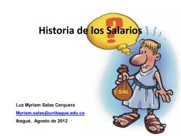 Historia de los Salarios