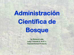 Scientific Forest Management