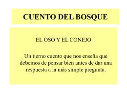 CUENTO DEL BOSQUE