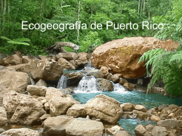 Brief ecological overview of Puerto Rico