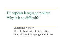 European language policy?