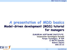 Awareness Model-driven development (MDD) tutorial …